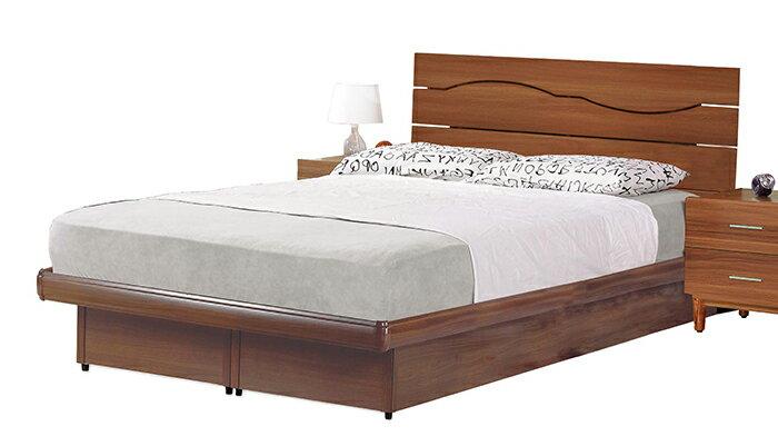 ~尚品傢俱~JF~084~3 艾奇3.5尺胡桃床片型後掀床