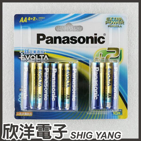 ※欣洋電子※Panasonic國際牌EVOLTA鈦元素AA3號電池1.5V(4+2入)LR6EG4+2B