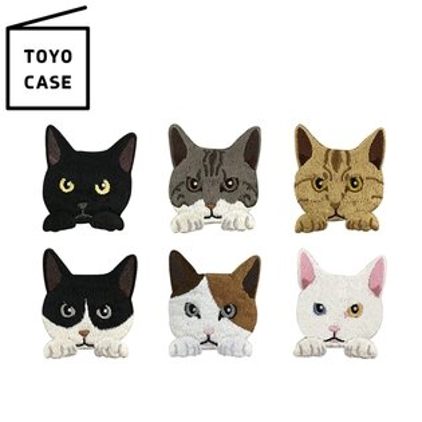 又敗家@日本TOYOCASE可愛貓咪造型刺繡布貼SS-CAT貓咪刺繡貼紙繡片貼貓咪刺繡貼布燙布貼徽章臂章燙貼繡片裝飾貼