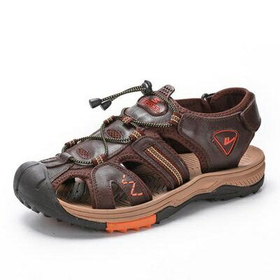 涼鞋真皮拖鞋-清涼透氣柔軟舒適男鞋子4色73sa11【獨家進口】【米蘭精品】