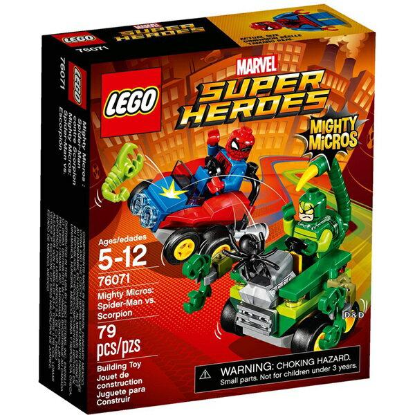 樂高積木 LEGO《 LT76071》SUPER HEROES 超級英雄系列 -Mighty Micros: Spider-Man vs. Scorpion