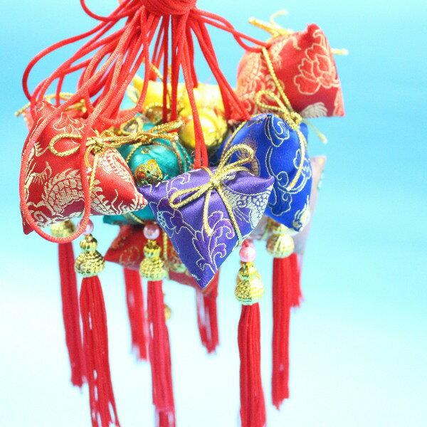 台湾制 粽子香包 鹿港阿妈 端午节香包/一袋10个入{定100} 成品项鍊式 粽子手工香包