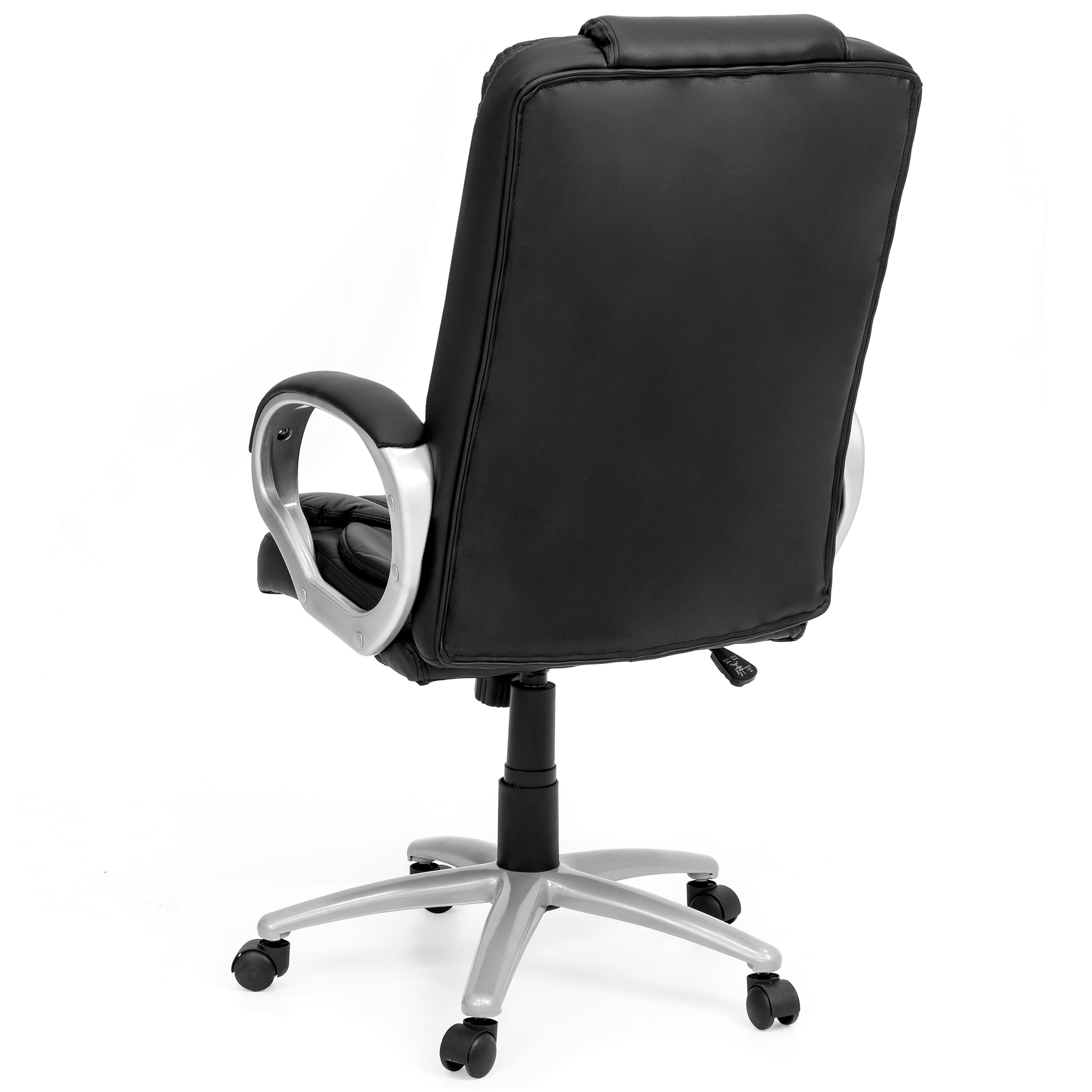 Best Choice Products Ergonomic PU Leather High Back Office Chair, Black 3