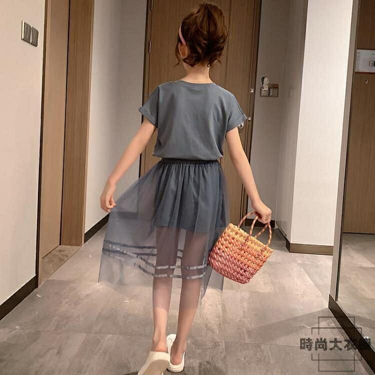 【免運】女童連身裙夏裝網美夏季中大童兒童裝公主紗裙子夏