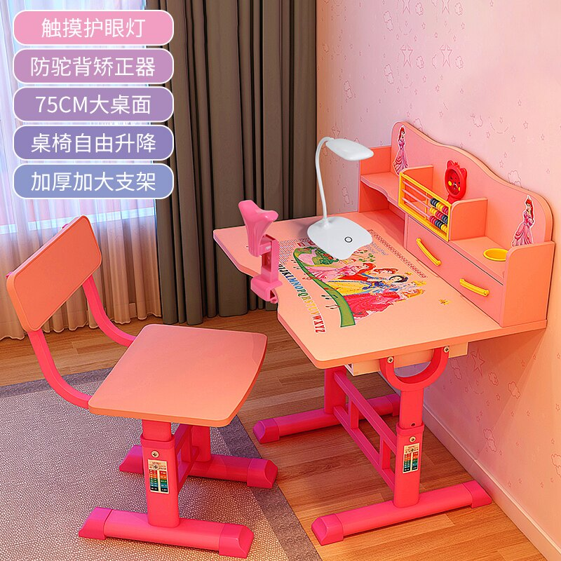兒童學習桌書桌簡約家用寫字桌椅套裝小學生作業桌課桌椅男孩女孩
