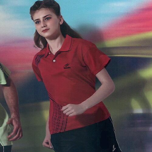 日本名牌Nittaku男女吸濕排汗(印刷圖騰)短POLO衫-紅(#3525) - 限時優惠好康折扣