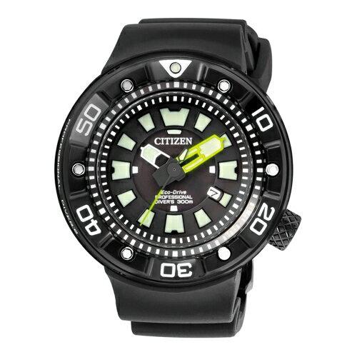 CITIZEN PROMASTER潛水錶時光動能腕錶 黑x橡膠 BN0177~05E