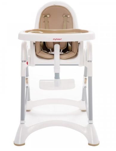 【淘氣寶寶】台灣製 myheart 折疊式兒童安全餐椅(布朗棕)【公司貨】 - 限時優惠好康折扣