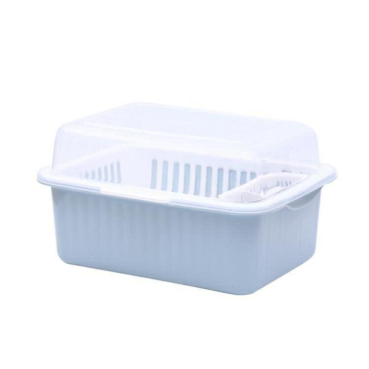 瀝水架廚房放碗柜塑料帶蓋家用碗架裝碗筷收納箱收納盒碗碟置物架wy 快速出貨【全館免運 限時鉅惠】