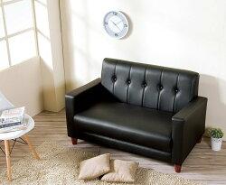 【尚品傢俱】HY-B250-01 東尼黑色皮沙發 (2人座) 另有米白色