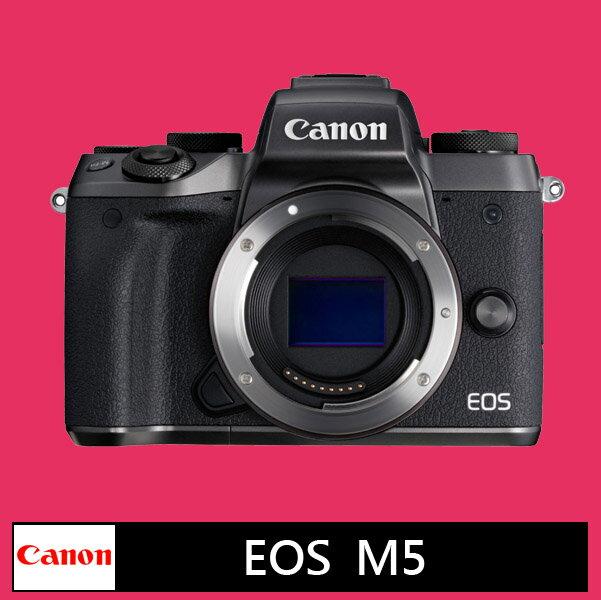 Canon EOS M5 (黑) 單機身★(公司貨)★11/12前申請送 EF-EOS M鏡頭轉接環 + 原廠包 + 原電