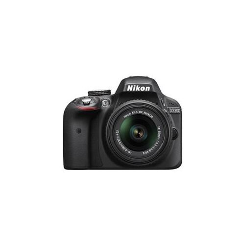 "Nikon D3300 24.2 Megapixel Digital SLR Camera Body Only - 18 mm - 55 mm - Black - 3"" LCD - 16:9 - 3.1x Optical Zoom - Optical (IS) - 6000 x 4000 Image - 1920 x 1080 Video - HDMI - HD Movie Mode 1"