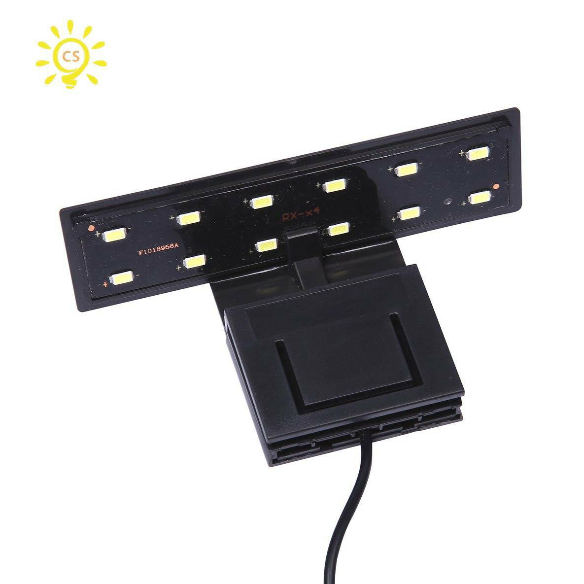 【全館免運】【養魚達人】小型魚缸魚缸5W 220V歐盟插頭的12個LED夾子燈