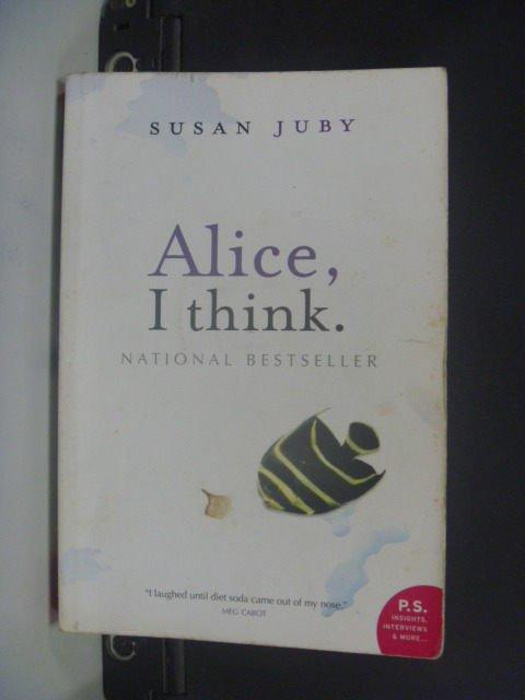 ~書寶 書T4/原文小說_JDX~Alice I Think_Susan Juby