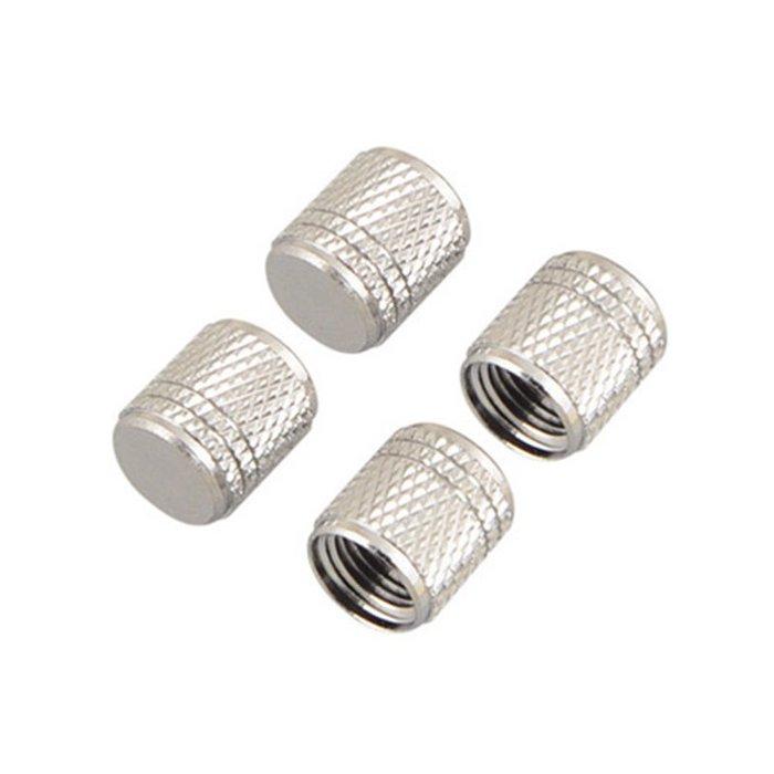 權世界@汽車用品 日本AMON 輪胎鋁圈 鍛造氣嘴螺絲帽 (菱形紋)氣嘴蓋 圓頭 銀色 4入 6800