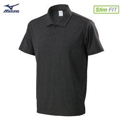 32TA801609(黑)天絲棉合身版型 男短袖POLO衫【美津濃MIZUNO】