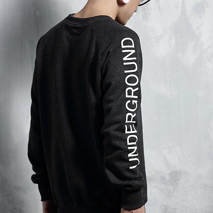Underground L/S shirt - 高磅 大學T 手臂 地下文化 秋冬 新品 兩色 免運 [CAPTAIN HOOK]