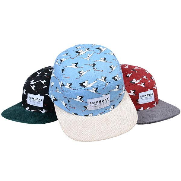 SOMEDAY EGRETS 5 PANEL CAP SD132007 棒球帽 花紋 鷺鷥 特殊 三色