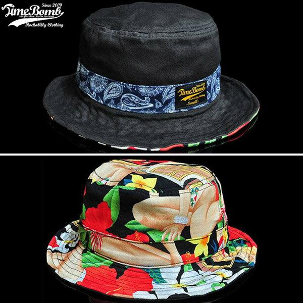 TIMEBOMB BEACHGIRL / AMOEBA BUCKET HAT 限量 雙面 美國女郎 變形蟲 軟鐵絲 可調 [新品免運]