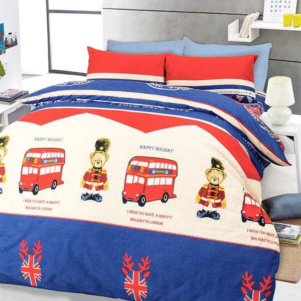 【凱文與熊】天鵝絨輕柔棉床包兩用被組
