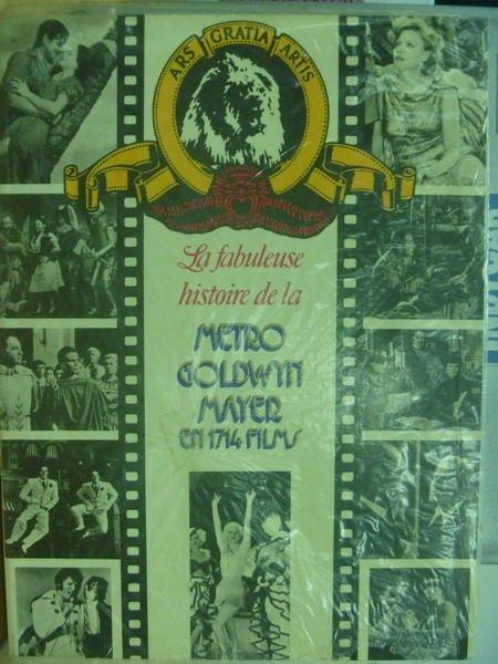 【書寶二手書T2/嗜好_WFX】Metro Goldwyn Mayer_en 1714 films