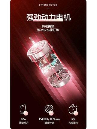 榨汁機小型電動可攜式網紅榨汁杯家用充電無線隨身迷你水炸果汁杯