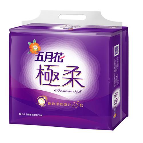 五月花 極柔頂級抽取式衛生紙110抽*12包*6袋(72包)