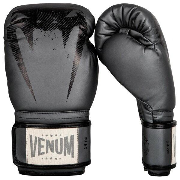 [古川小夫]頂級拳套VENUM12oz巨人系列拳擊手套~VENUM頂級真皮手工拳套~專業收藏版-鐵灰色