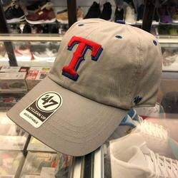 BEETLE 47 BRAND 老帽 美國 德州遊騎兵 TEXAS RANGERS 大聯盟 MLB 灰紅 LOGO