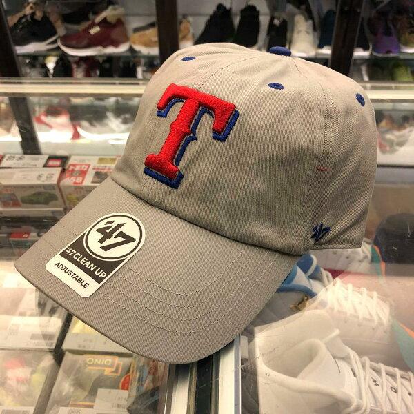 BEETLE47BRAND老帽美國德州遊騎兵TEXASRANGERS大聯盟MLB灰紅LOGO