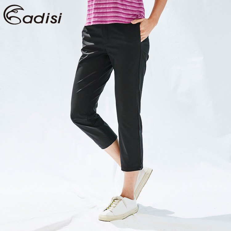 ADISI 女sorona智慧型修身八分褲AP1911058 (S-2XL) /  城市綠洲 (環保紗、彈性、柔軟、快乾、抗汙)