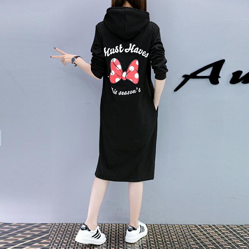 M~4XL 米妮連帽中長款帽T過膝連衣裙 迪士尼系列 【TT7111M6AS】 Lanny Dress 1