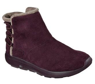 SKECHERS (女) ON THE GO CITY 2 保暖 內刷毛 雪靴 - 14616BURG 酒紅【陽光樂活】