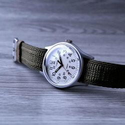 【時光鐘錶】TIMEX 天美時 (TXTW2R80900) 帆布 冷光 錶/軍綠/40mm