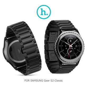 【愛瘋潮】HOCO SAMSUNG Gear S2 Classic 格朗錶帶三珠款 ( 22mm 錶扣均適用) / 黑色