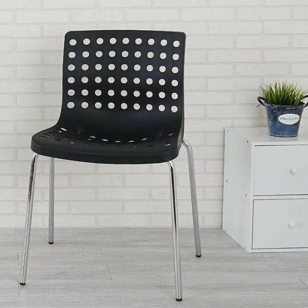 優世代居家生活館:餐椅椅子休閒椅洽談椅《Yostyle》凱特洽談椅(經典黑)