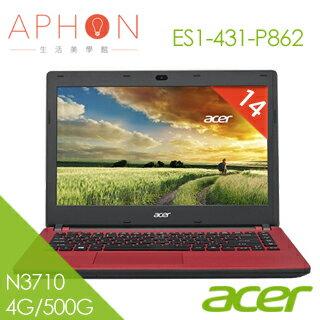 【Aphon生活美學館】ACER  ES1-431-P862  14吋 四核心筆電(N3710/4G/500G)