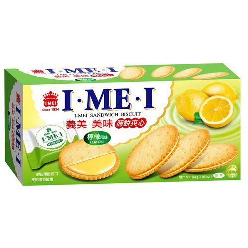 義美 美味薄餅夾心 檸檬風味 144g【康鄰超市】