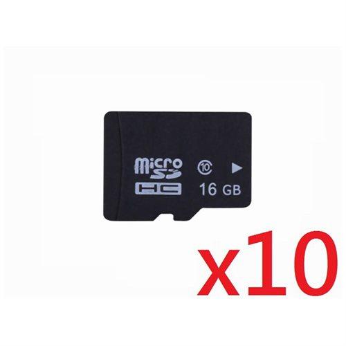 WholeSale 10 piece OEM 16GB 16G microSD microSDHC Class 10 micro SD SDHC C10 TF Flash Memory Card + SD Adapter