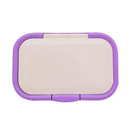 【悅兒樂婦幼用品?】日本 必貼妥 Bitatto 重覆黏濕紙巾專用盒蓋(彈跳系列)-粉紫色
