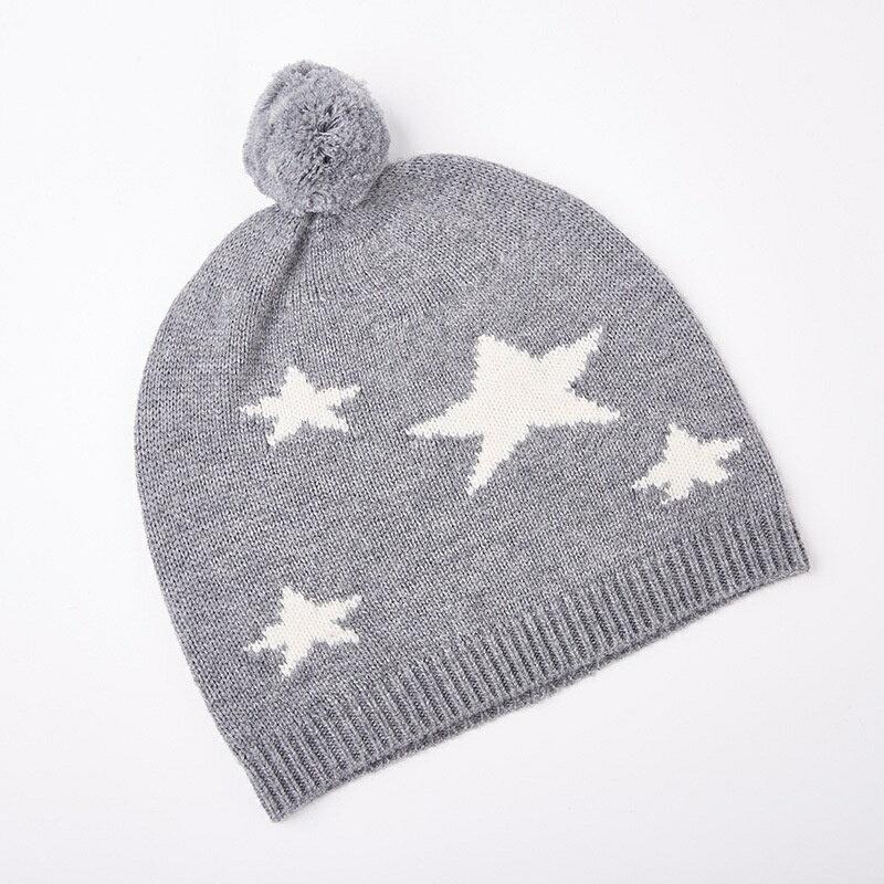 毛帽羊毛針織帽-毛球五星簡約保暖男帽子2色73wj30【獨家進口】【米蘭精品】 1