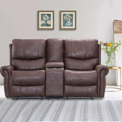 Recliner Sofa Love Seat Reclining Couch Leather Loveseat Home Theater Seating 0