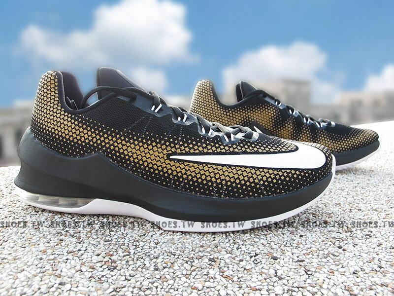 《下殺6折》Shoestw【852457-003】NIKE AIR MAX INFURIATE LOW 籃球鞋 黑金白 低筒 KD
