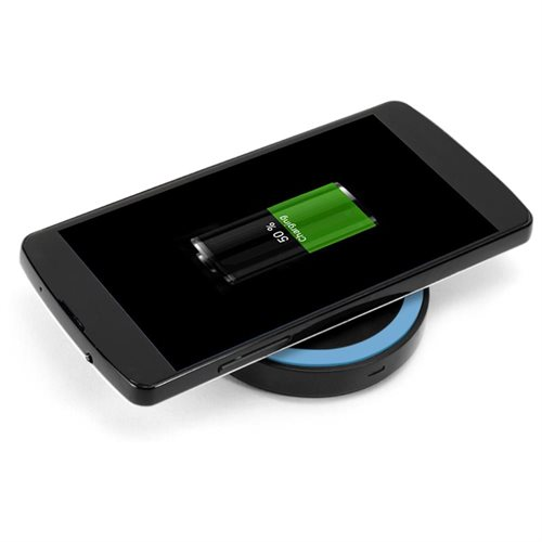 GMYLE Mini Qi Wireless Charger for All Qi Compatible Smartphones - Black / Blue 3