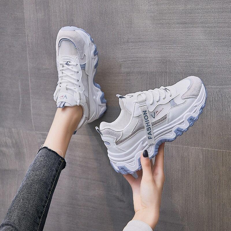 網面老爹女鞋2021夏季新款韓版透氣運動鞋女學生ins潮休閒鞋Q7807