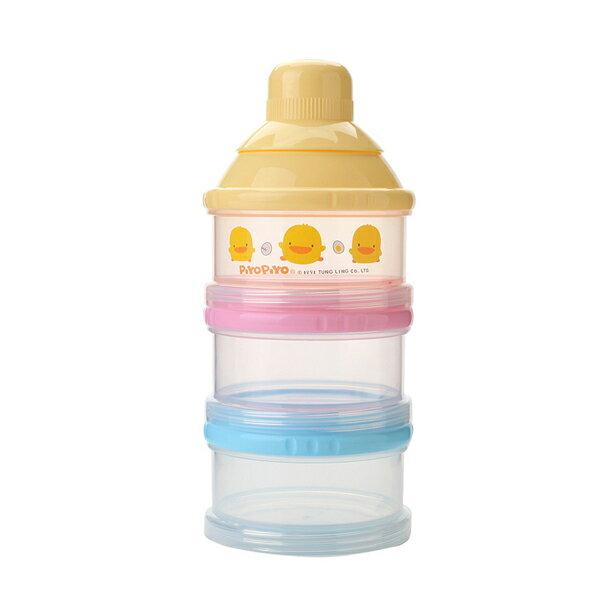 『121婦嬰用品館』黃色小鴨 不易漏3層奶粉罐 0