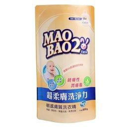 【淘氣寶寶●毛寶滿500加贈捲尺】毛寶兔 超柔膚敏感膚質洗衣精 800g 補充包