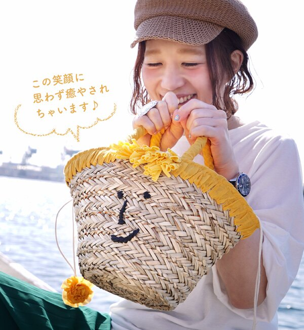 日本e-zakka / 流蘇微笑設計手提包 / 21103-1900075 / 日本必買 代購 / 日本樂天直送(4500) 1