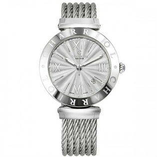 CHARRIOL夏利豪(ALS51101)Alexandre系列經典鋼索腕錶放射面40mm