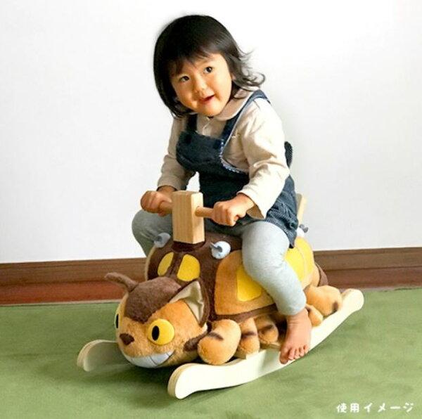 真愛日本:【真愛日本】17121700023木製絨毛兒童搖搖馬-貓公車免運宮崎駿龍貓玩具搖馬